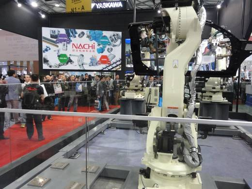 Robotics at the automation in Shanghai.
